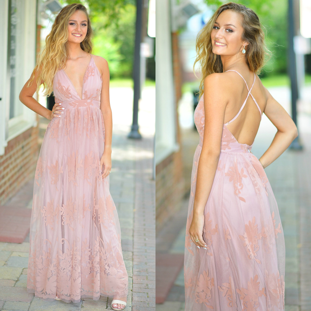 Formalwear Ever After Matters Blush Tulle Dress