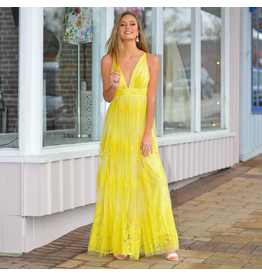 Formalwear Ever After Matters Yellow Tulle Dress