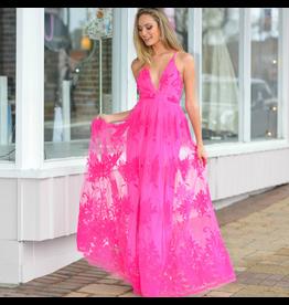 Formalwear Tulle Occasion Fuchsia Dress