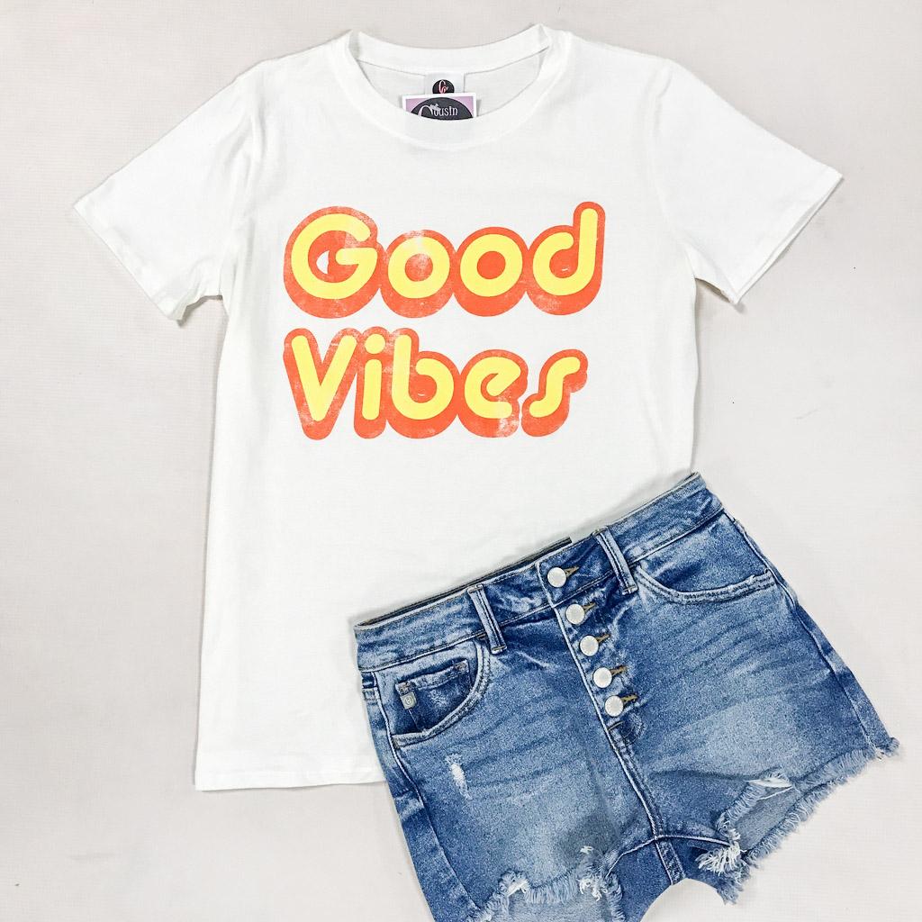 Tops 66 Good Vibes Tee