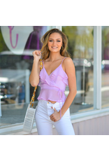 Tops 66 Ruffle Wishes Lavender Top
