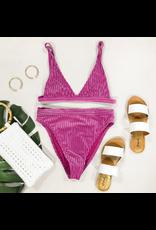 Swimsuits Revibe Raspberry Hi Waist Bikini Bottom