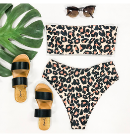 Swimsuits Brown Leopard Bikini Top
