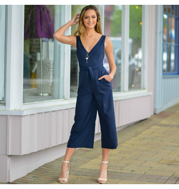 Jumpsuit Spring In My Step Navy Jumpsuit