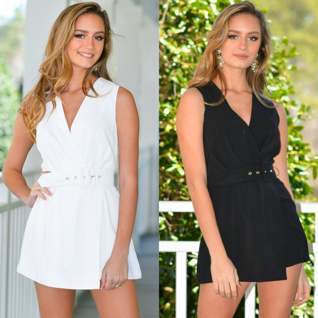 Rompers 48 Now Or Never Belted Romper