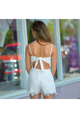 Rompers 48 Lovely Lace Open Back White Romper