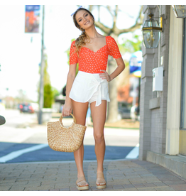 Shorts 58 Wrap It Up White Skort