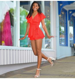 Rompers 48 Wrap It Up Red Romper