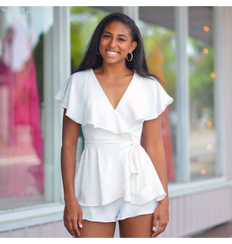 Rompers 48 Wrap It Up White Romper