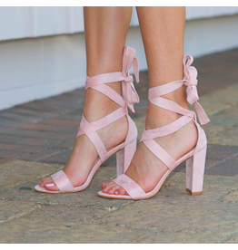Shoes 54 Wrap It Up Blush Pink Heel