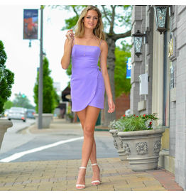 Dresses 22 Express Yourself Lilac Open Back Wrap Dress