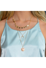 Jewelry 34 Coin Disc & Horn Necklace