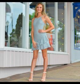 Dresses 22 Sweet Surrender Slate Blue Lace Dress