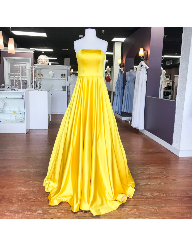 Formalwear Jovani Dream Come True Yellow Formal Dress