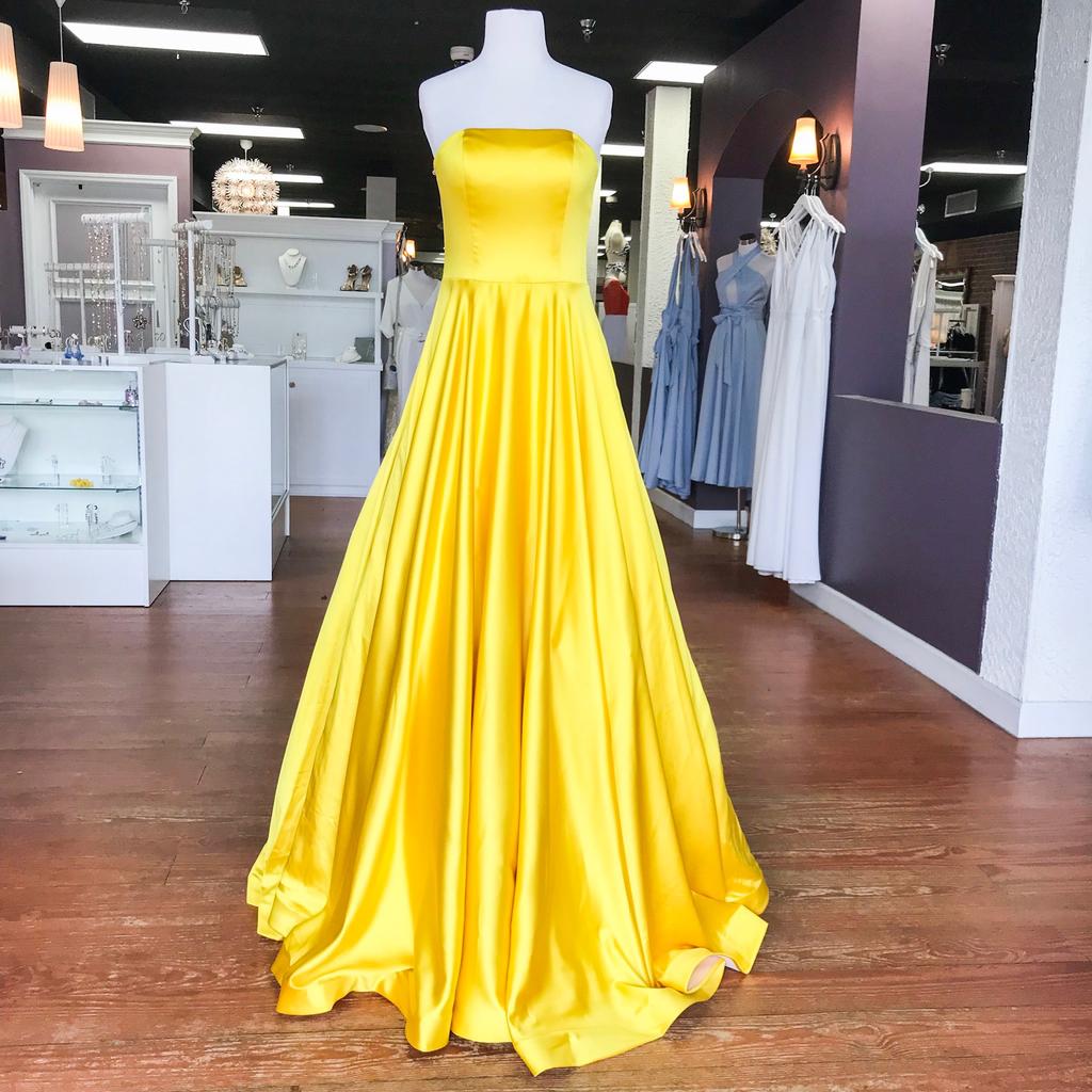 Formalwear Jovani Dream Come True Yellow Formal Dress