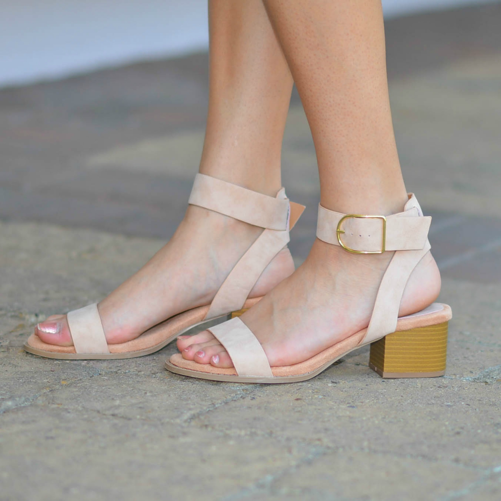 11650a79b8 Shoes 54 Live It Up Nude Block Heel - Cousin Couture