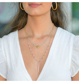 Jewelry 34 Bar & Disc Bead Layer Choker
