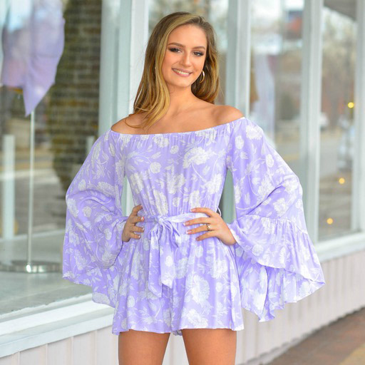 Rompers 48 Lavender Dream Floral Romper