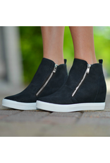 Shoes 54 Pumped Up Wedge Zipper Black Sneaker