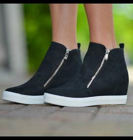 Shoes 54 Pumped Up Wedge Zipper Black Sneaker