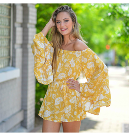 Rompers 48 Floral Dream Yellow Romper