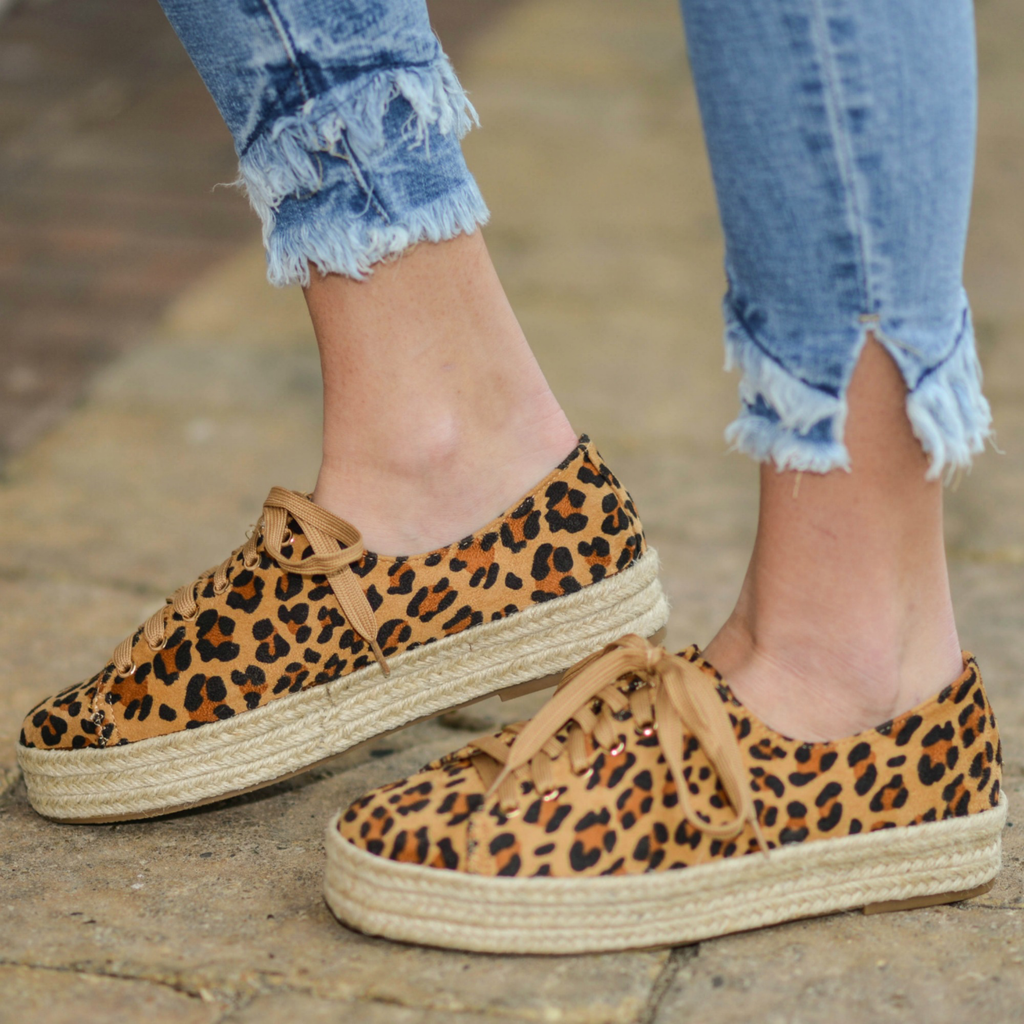 Shoes 54 On The Move Leopard Espadrille