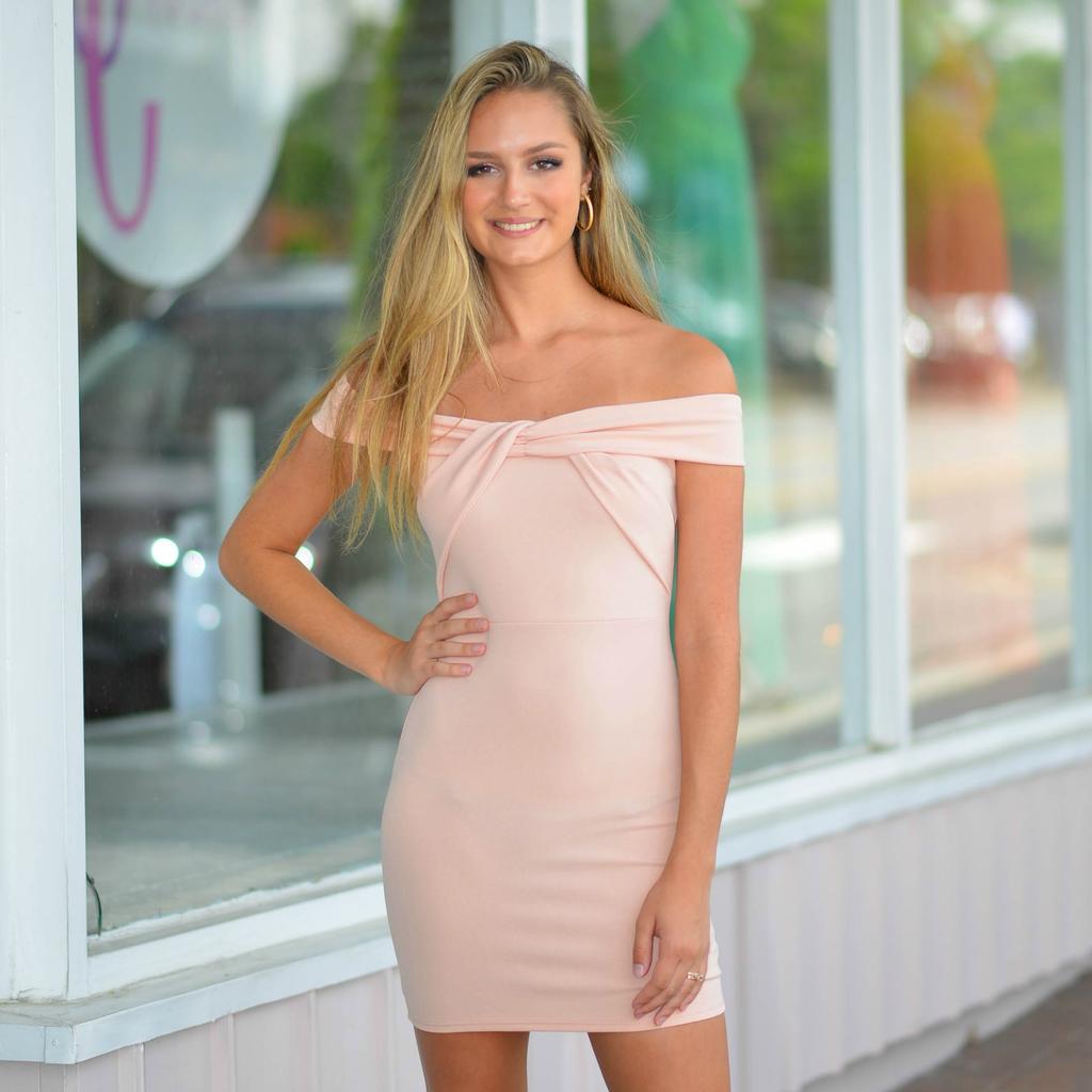 Dresses 22 RSVP Yes To the Blush Off Shoulder Dress