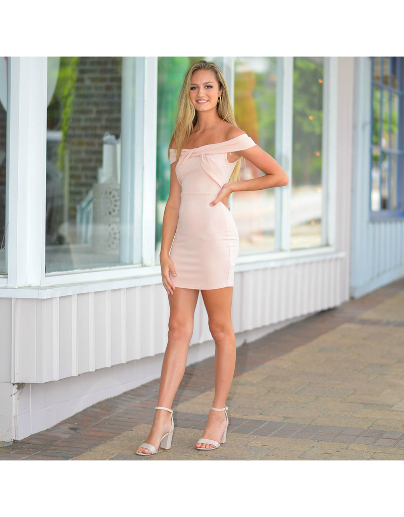 Dresses 22 RSVP Yes To the Blush Off Shoulder Dress