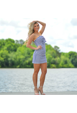 Dresses 22 Looking Great In Gingham Navy Dress