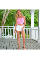 Shorts 58 Button Front High Waisted White Shorts