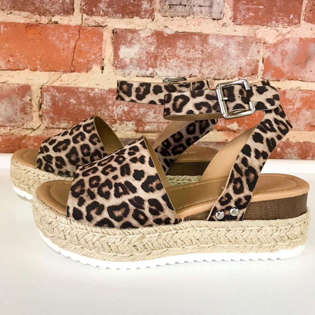 Shoes 54 Wild About You Leopard Espadrilles