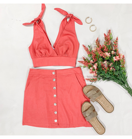 Tops 66 In Living Coral Summer Top