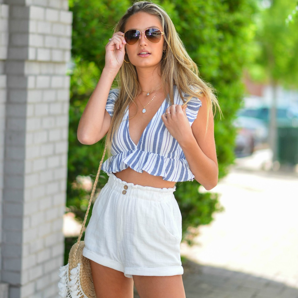 Tops 66 Sail Away Summer Stripe Top