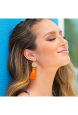 Jewelry 34 Tied Tassel & Disc Earrings