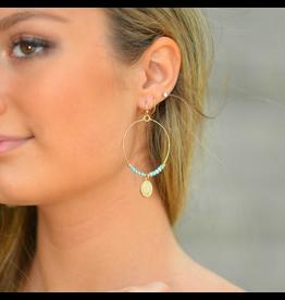 Jewelry 34 Beaded Circle & Coin Earrings