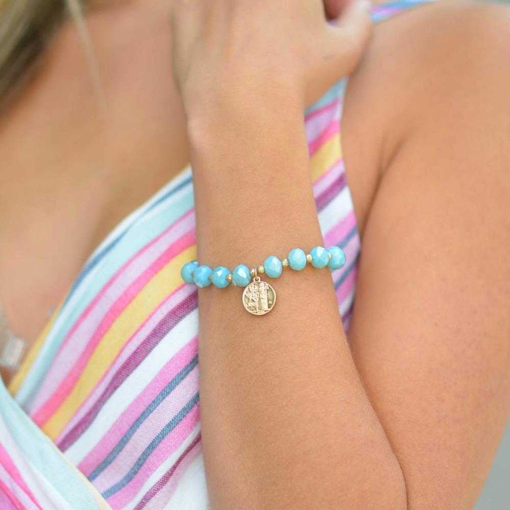 Jewelry 34 Coin Charm Bead Bracelet