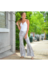Pants 46 On The Move Snake Print Flares