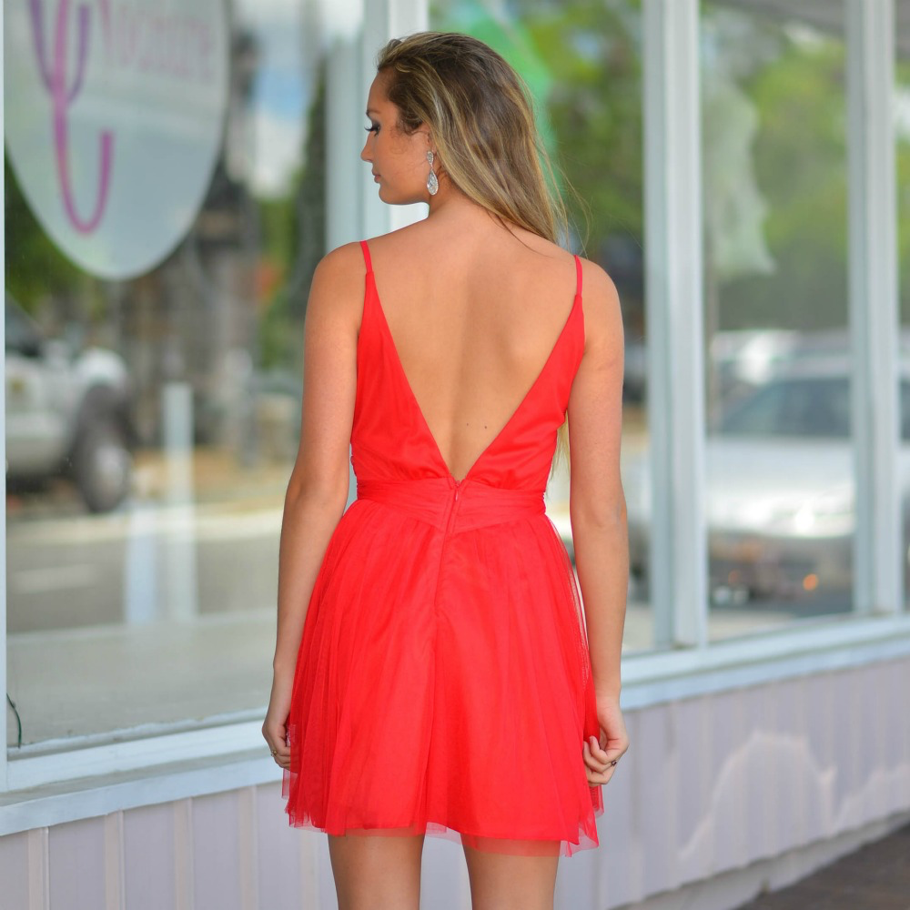 Dresses 22 Tulle Time Red Formal Dress