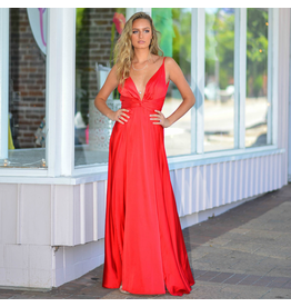 Formalwear So Stunning In Satin Red Formal Dress