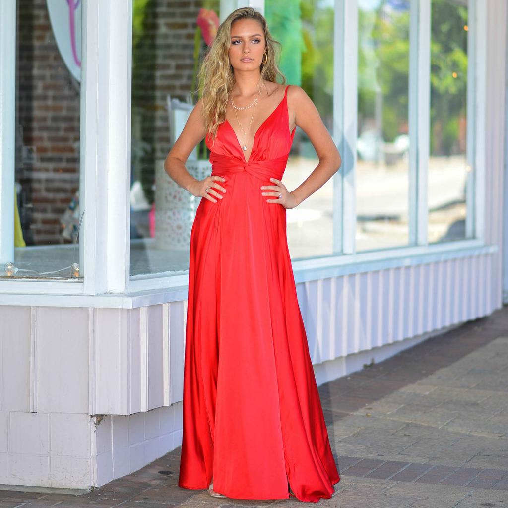 Formalwear So Stunning In Satin Red Formal Dress