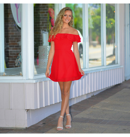 Dresses 22 Party Time Red Ruffle Dress
