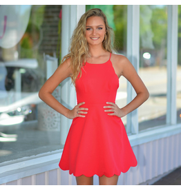 Dresses 22 Scallop Dream Red Dress