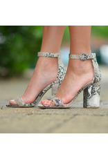 Shoes 54 Snake Print Block Heels