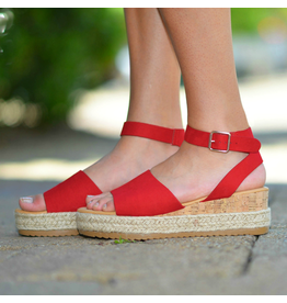 Shoes 54 Summer In The Sun Red Espadrille