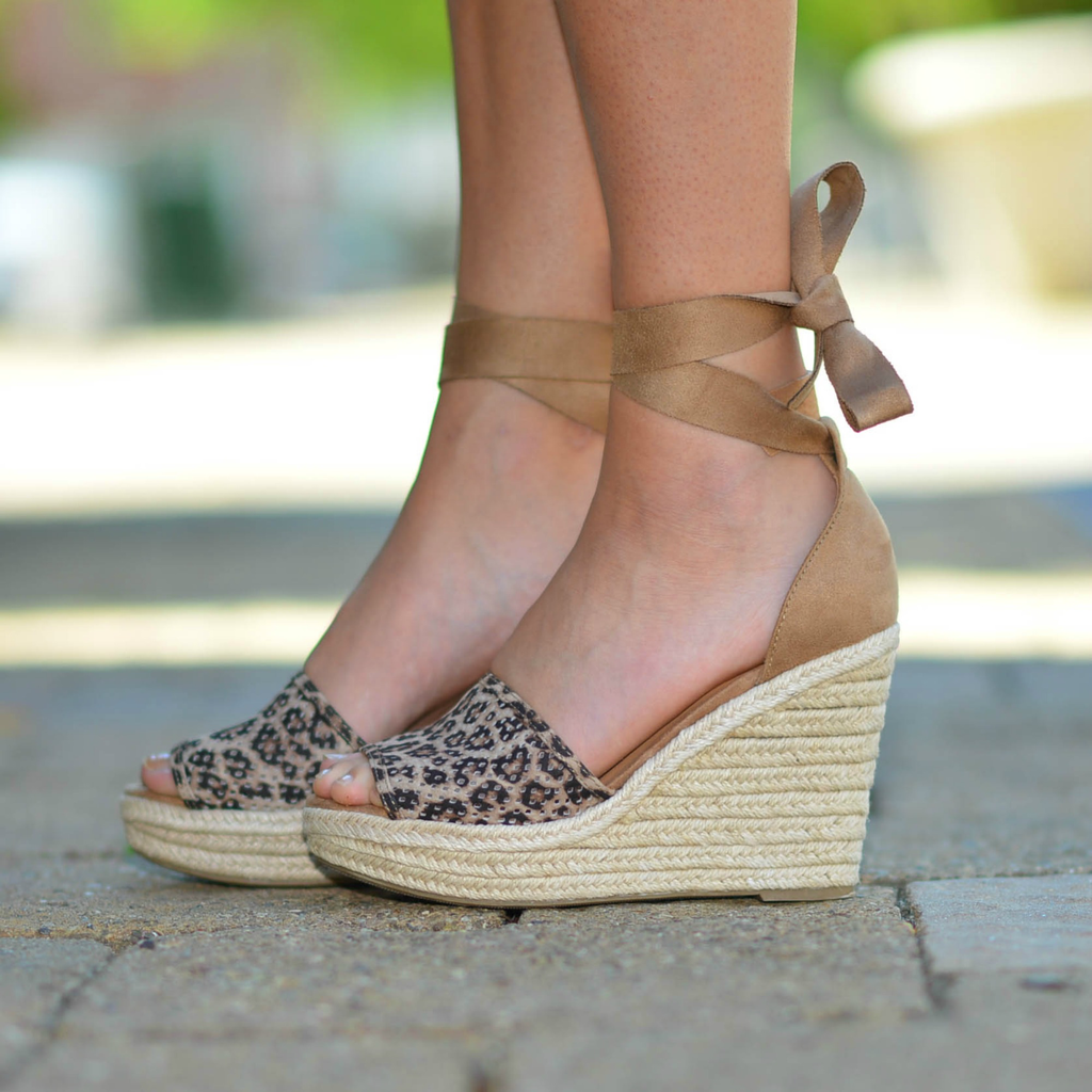 Shoes 54 Wrap Up Into Summer Cheetah Wedge