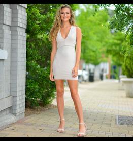 Dresses 22 Simple Elegance Strappy Back Sand Dress