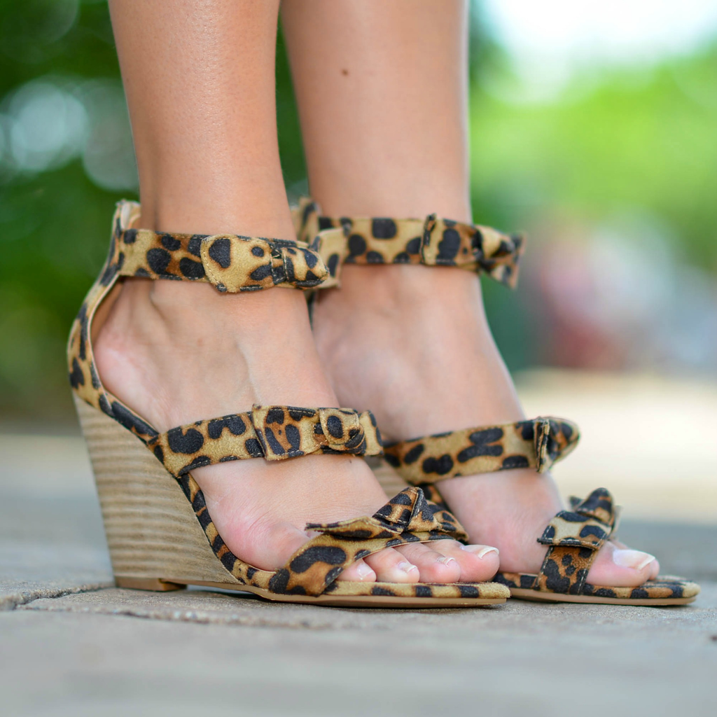 Shoes 54 Step Into Summer Leopard Wedge