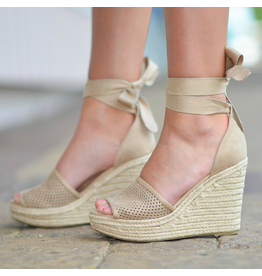 Shoes 54 Wrap Up Into Summer Beige Wedge