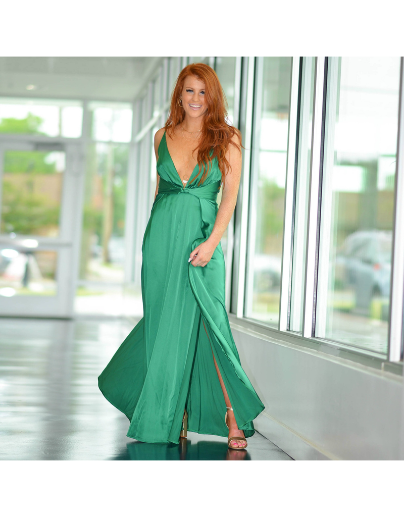 Formalwear So Stunning In Satin Green Formal Dress
