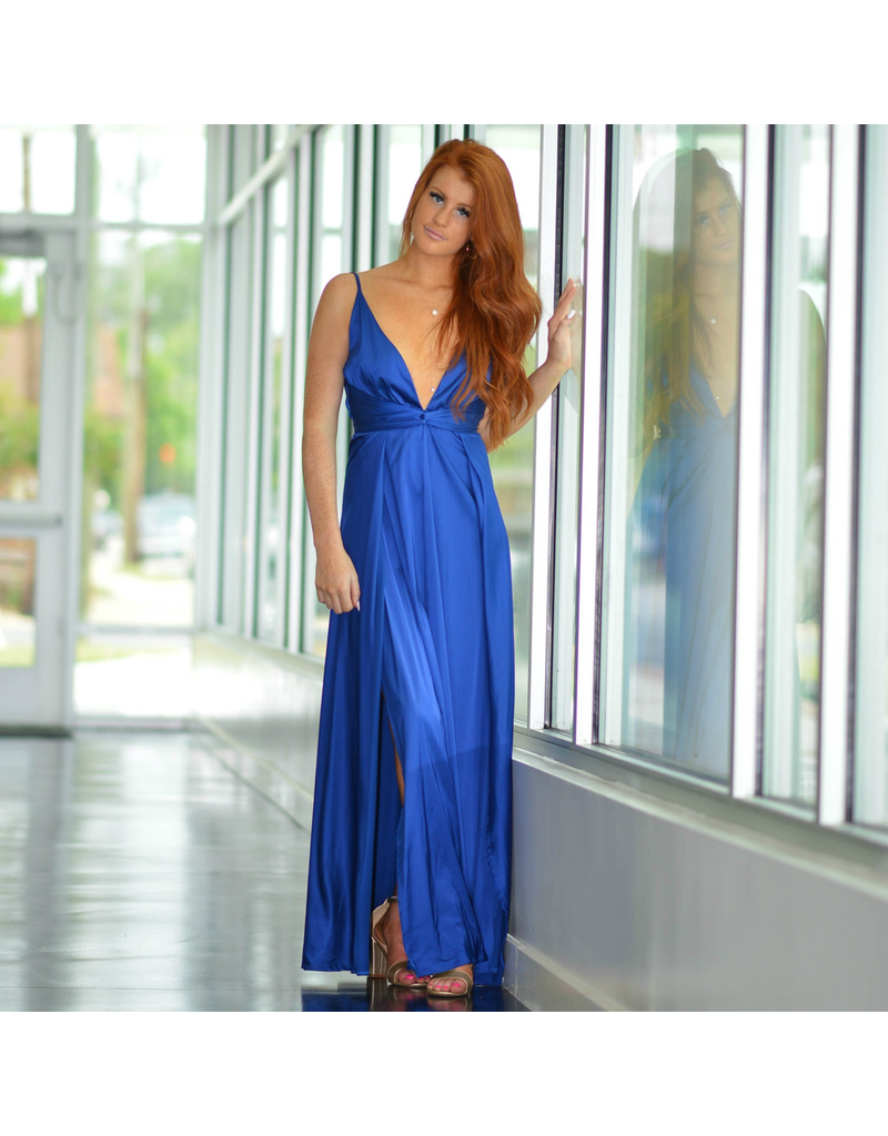Formalwear So Stunning In Satin Royal Blue Formal Dress